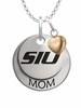 Southern Illinois Salukis MOM Necklace with Heart Charm