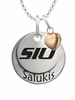 Southern Illinois Salukis with Heart Accent