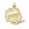 Southern Louisiana Lions 14K Yellow Gold Natural Finish Cut Out Logo Charm