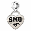 Southern Methodist Engraved Heart Dangle Charm