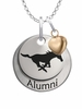 Southern Methodist Mustangs Alumni Necklace with Heart Accent