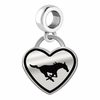 Southern Methodist Mustangs Border Heart Dangle Charm