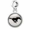 Southern Methodist Mustangs Border Round Dangle Charm