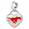 Southern Methodist Mustangs Color Heart Dangle