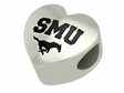Southern Methodist Mustangs Heart Shape Bead