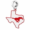 Southern Methodist Mustangs Logo Dangle Charm