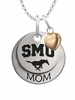Southern Methodist Mustangs MOM Necklace with Heart Charm