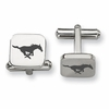Southern Methodist Mustangs Stainless Steel Cufflinks
