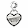 Southern Mississippi Golden Eagles Border Heart Dangle Charm