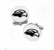 Southern Mississippi Golden Eagles Cufflinks Stainless Steel Round Top