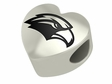 Southern Mississippi Golden Eagles Heart Shape Bead