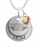 Southern Mississippi Golden Eagles MOM Necklace with Heart Charm