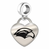 Southern Mississippi Engraved Heart Dangle Charm