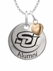 Southern University Jaguars Alumni Necklace with Heart Accent