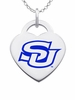 Southern University Jaguars Color Logo Heart Charm