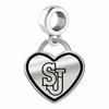 St. John's Red Storm Border Heart Dangle Charm