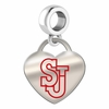 St. John's Red Storm Color Heart Dangle