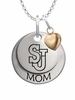 St. John's Red Storm MOM Necklace with Heart Charm