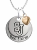 St. John's Red Storm with Heart Accent