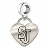Saint Johns Engraved Heart Dangle Charm