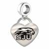 Saint Josephs Engraved Heart Dangle Charm