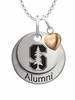 Stanford Cardinal Alumni Necklace with Heart Accent