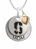 Stanford Cardinal MOM Necklace with Heart Charm