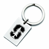 Stanford Cardinal Stainless Steel Key Ring