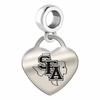 Stephen F. Austin Engraved Heart Dangle Charm