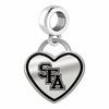 Stephen F Austin Lumberjacks Border Heart Dangle Charm