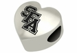 Stephen F. Austin Lumberjacks Heart Shape Bead
