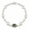 Sterling Silver Tin Cup Cultured Freshwater Pearl Bracelet