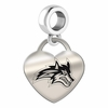 Stony Brook Engraved Heart Dangle Charm