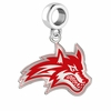 Stony Brook Sea Wolves Silver Logo and School Color Drop Charm