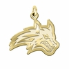 Stony Brook Seawolves 14K Yellow Gold Natural Finish Cut Out Logo Charm