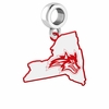 Stony Brook Seawolves Logo Dangle Charm