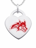 Stony Brook Logo Heart Pendant With Color