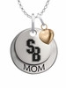 Stony Brook Seawolves MOM Necklace with Heart Charm