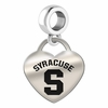 Syracuse Engraved Heart Dangle Charm
