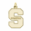 Syracuse Orange 14K Yellow Gold Natural Finish Cut Out Logo Charm