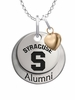 Syracuse Orange Alumni Necklace with Heart Accent