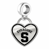 Syracuse Orange Border Heart Dangle Charm