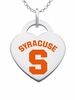 Syracuse Orange Color Logo Heart Charm