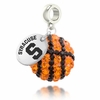 Syracuse Orange Crystal Drop Charm