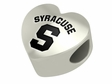 Syracuse University Heart Shape Bead