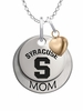 Syracuse Orange MOM Necklace with Heart Charm
