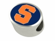 Syracuse Orange Enamel Bead