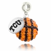 Texas Christian TCU Crystal Drop Charm