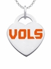Tennessee Logo Heart Pendant With Color