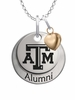Texas A&M Aggies Alumni Necklace with Heart Accent